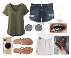 """""""Spring Break"""" by caydee04 on Polyvore featuring prAna, 3x1, Aéropostale, Kate Spade, Ray-Ban and Alex Monroe"""
