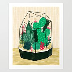 Buy Terrarium - Geodesic Plant for Succulents and Cactus by Andrea Lauren by Andrea Lauren Design as a high quality Art Print. Worldwide shipping available at Society6.com. Just one of millions of products available.