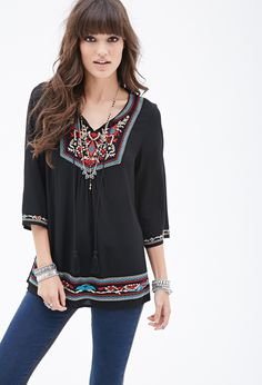 Prairie Embroidered Tunic Top