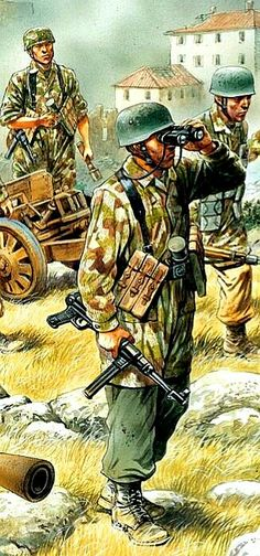 Fallschirmjäger armed with an The Battle of Crete 20 May – 1 June Military Figures, Military Weapons, Military Art, Military History, Ww2 Uniforms, German Uniforms, Military Uniforms, Pictures Of Soldiers, Ww2 Pictures