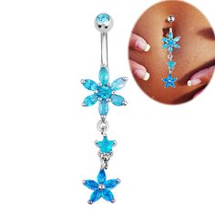 Turquoise Belly Button Ring
