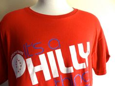 vintage Philadelphia Sixers It's a Philly Thing NBA basketball sports team red crew neck graphic t-shirt unisex front back print Sport Shirt Design, Nba Basketball, Fruit Of The Loom, Sports Shirts, Philadelphia, Shirt Designs, Crew Neck, Unisex, Sweatshirts
