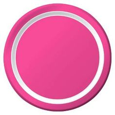 """The Snack Plates Hot Pink 7"""" 10ct - Spritz bring bright joyous color to the party—birthday, wedding, baby shower—and they're perfectly convenient for everyday meals on the deck or patio with family and friends. A light coating makes them leak- and cut-resistant. And they're easy to dispose of in the recycling."""