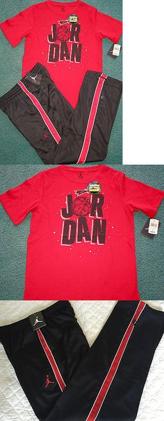 a08d5e5ae8e9 Outfits and Sets 156790  Nwt Nike Air Jordan Boys Yxl Red Black Warner Bros  Glow In Dark Pants Set Xl -  BUY IT NOW ONLY   52.99 on eBay!
