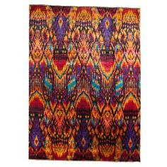 This rug would make a statement in my living room.