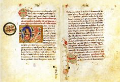 Fuero de Alcaraz. Manuscrito original en pergamino iluminado conservado en la Biblioteca Nacional de España.
