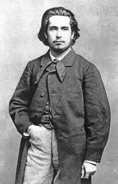 1858 - Photo of Monet when he was 18. Oscar-Claude Monet (1840-1926) was a founder of French Impressionist painting.