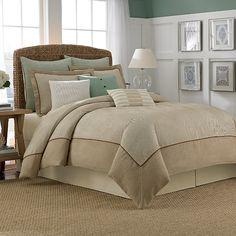 Nautica® Eden Comforter in Khaki - BedBathandBeyond.com