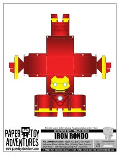 Iron Man Paper Toy