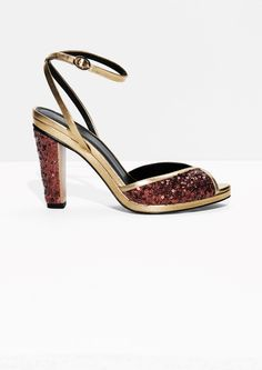 2649d38dca0e Other Stories image 1 of Rodarte Sequin Sandals in Copper All Sale