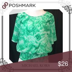 Blouse by Michael Kors Size XL but fits like Large  // pull over // Short sleeve // 100% Polyester // zero flaws EUC Tops Blouses