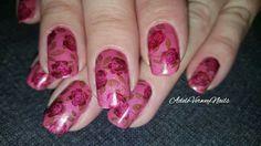 UC1-02 #uberchicbeauty #adeleverweynails  #layerdstamping #rosesnails #floralnailart #lovenailart #repost #stamping #nailsoftheday #nailpolishaddict #stampingart  #nailartwow #dreamnails