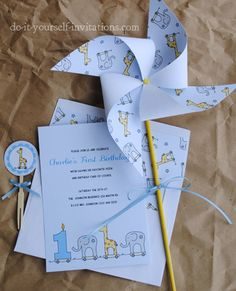 DIY Printable Birthday Invitation Templates Kit 1st Invitations Party Kids Baby Shower