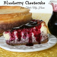 Blueberry Cheesecake from That's My Home #blueberryrecipes #blueberries