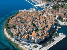 Die Altstadt von Korcula, Kroatien
