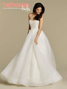 3bce0f3a4ac Tara Keely by Lazaro bridal gown - Ivory tulle natural waist bridal ball  gown