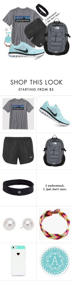 """Hahah layout"" by katieduffyy ❤ liked on Polyvore featuring Patagonia, NIKE, The North Face, lululemon, Pearlyta, Jewel Rocks and BlissfulCASE"