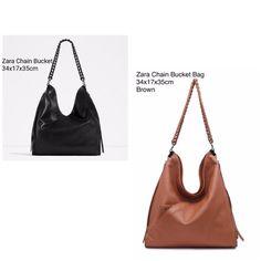 Tas Zara Chain Bucket Ori 7171 34x17x35 260rb