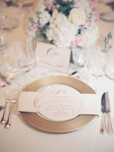Pink and Gold Reception Table Decor | photography by http://www.claryphoto.com flowers by #thespecialeventflorist