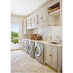#laundry #love #bricks #chevron #glass #door #ideas #inspo #interiors #interiordesign #decor #design #architecture #home #house #style