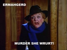 God she was funny in this episode. Murder She Wrote Old Tv Shows, Movies And Tv Shows, Detective, Buddy Movie, Bedknobs And Broomsticks, Murder Most Foul, Angela Lansbury, Helen Mirren, Murder Mysteries