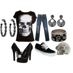 Dressed up or down I LOVE, LOVE, LOVE this outfit! A skull tee is on my list of things to buy!