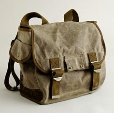 Waxed-Canvas Backpack