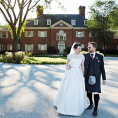 Scottish tradition met English garden in this gorgeous Delaware wedding -- the groom even wore a kilt!  Now it's your turn Delaware brides! Use #theknotdelaware on your wedding photos and we may regram! #theknot #50weddings50states  via @lesliebarbaro_weddings