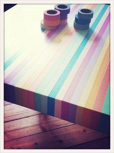 Ikea Table w/ Washi Tape!