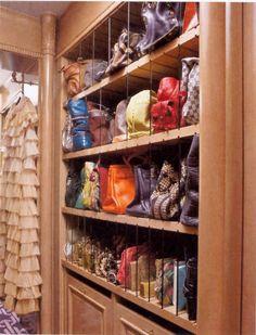 I wish I had storage for my purses like this!