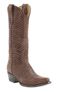 Old Gringo Yippee Ki Yay Women's Brass Morena Stitched Snip Toe Western Boots
