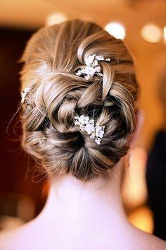 Elegant bridal hair.