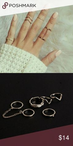 6pc Boho Midi Ring Set 6 piece set of bohemian / boho style midi stacking rings. Available in gold or silver tone. Stackable. Hi Sweety! Thanks for looking at my closet! I always have some sort of sale going on and new items arrive weekly. Be sure to check back soon!! Happy Shopping! Jewelry Rings