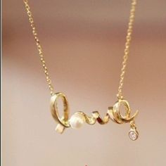 Love necklace Gold tone. Keyword : boho, statement . Silver tone available too Jewelry Necklaces