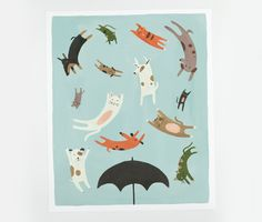 Raining Cats and Dogs Poster.