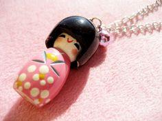 japanese culture in la on pinterest | Japanese Doll Pink Kokeshi Necklace Japan Culture by WatashiPanda, $12 ...