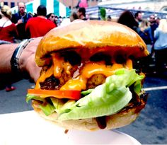 The tastiest dirty burger. Ever. Patty & Bun. Patty And Bun, Street Food, Hamburger, Food Porn, Vans, Tasty, Google Search, Ethnic Recipes, Kitchens