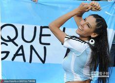 為阿根廷隊加油的球迷。(圖/騰訊體育)