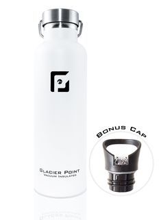 5a7bfcc9b39 GlacierPoint Bottle Glacier Point Vacuum Insulated Stainless Steel Water  Bottle. Double Walled Construction.25oz/750ML White *** Want to know more,  ...