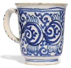 A LONDON DELFT BLUE AND WHITE COFFEE-CUP