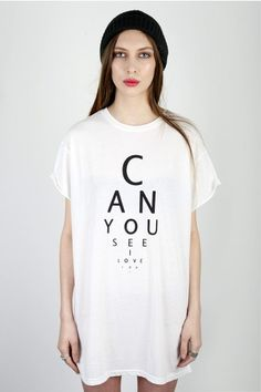 Eye test t shirt by illustrated people