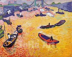 The Port of London 1906 - Andre Derain reproduction oil painting