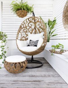 Egg Swing Chair – Magnolia Lane, perfect idea for an outdoor meditation space area. Egg Swing Chair, Swinging Chair, Swing Chairs, Outdoor Rooms, Outdoor Chairs, Outdoor Swing Chair, Adirondack Chairs, Outdoor Living, Outdoor Kitchens