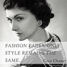 vintage channel fahsions | Fashion fades, only style remains the same.