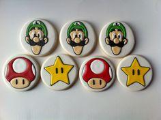 Mario Bros Cookies. $40.00, via Etsy.