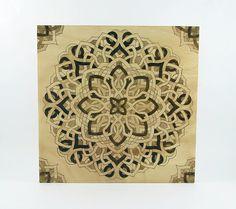 Mandala Wall Art  Wood Pyrography  Wood Wall Hanging by bkinspired, $55.00
