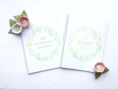 Baby book gender neutral floral baby book album scrapbook first year first birthday monochrome boho simple modern baby book journal baby shower gift Etsy baby baby boy baby girl Etsy shop handmade baby book floral watercolor vintage feminine modern pregnancy journal bump journal diary