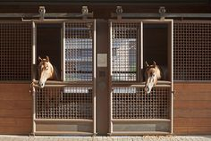 Private Horse Farm designed by GH2 Gralla Equine Architects and Lake|Flato Architects.  Lucas Equine designed these amazing stalls.