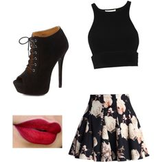 A fashion look from January 2015 featuring Jonathan Simkhai tops, Chicwish mini skirts and Charlotte Russe ankle booties. Browse and shop related looks.