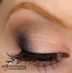 MAC eyeshadows used:  Naked Lunch (inner 2/3 of lid) Naval (outer third of lid) Era (crease) Blanc Type (blend)